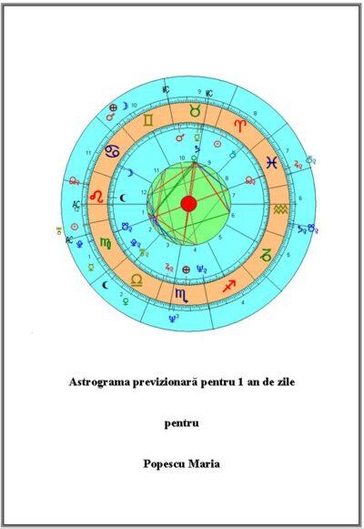 Astrograma previzionară pentru un an de zile