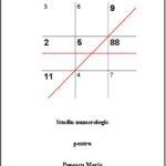 Studiu de numerologie - Numerogramă