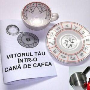 Cană de ghicit în cafea - Kit complet în limba română