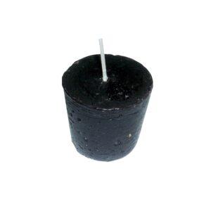 Lumânare conică neagră - 4 cm lungime