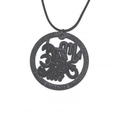 Pandantiv mare rotund pentru zodia Scorpion
