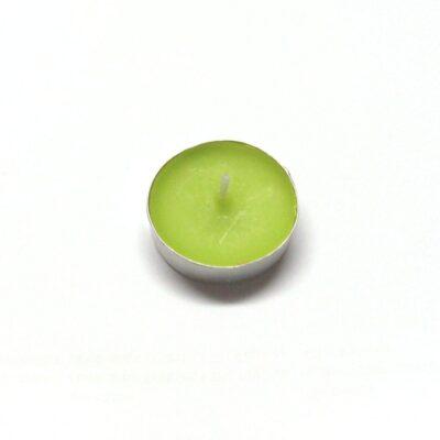 Lumânare pastilă – verde deschis la exterior și interior
